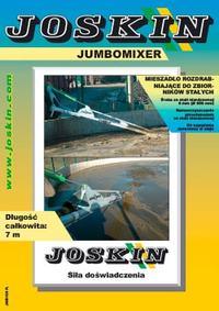 Mieszadlo rozdrabniajace do zbiornikow stalych Jumbomixer